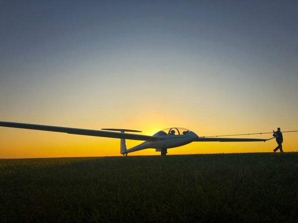Glider at Sunset